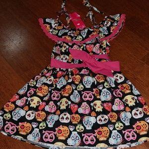 NWT sugar skulls dress